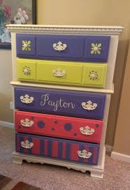 tweens dresser painted with websters chalk paint powder and an