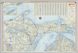 Map Of Michigan by Shell Highway Map Of Michigan Northern Portion David Rumsey