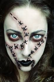 Halloween Makeup Stitches 35 Spooky And Creepy Makeup Looks To Try On Halloween Night