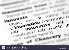 innovation dictionary definition single word with focus stock