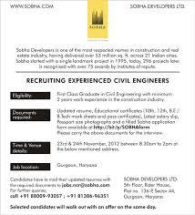 Realtor Job Description For Resume by Sobha Developers Careers Builders Developers Villas Real Estate