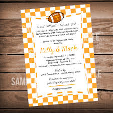 Tennessee Vols Home Decor Tennessee Vols Football Bridal Shower Invitation Tailgate