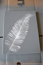 purchase a feather and simply paint over it love this diy