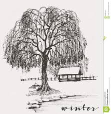 winter sketch stock vector image of river outdoors 65681841