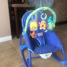 find more fisher price link a doos vibrating chair rocker
