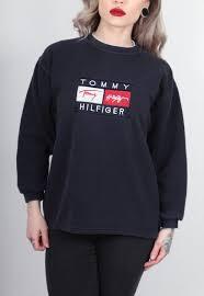 vintage hilfiger sweaters vintage hilfiger navy blue sweater vintage clothing
