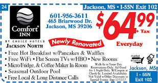 Comfort Inn Promotions Comfort Inn 465 Briarwood Dr Jackson Ms 39206 Exit 102a