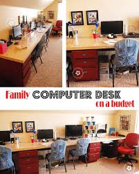 Diy Kid Desk Diy Computer Desk Station Onecreativemommy