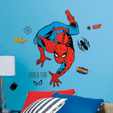spiderman crawler giant stickers great kidsbedrooms the home spiderman crawler giant stickers