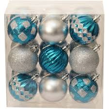 time ornaments 8 5 shatterproof garland aqua