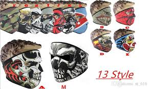 Halloween Motorcycle Costume Neoprene Skull Face Mask Halloween Costume Party Face