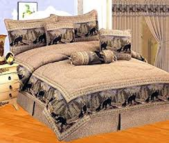 amazon black friday comforter amazon com 7 pieces wild black bear comforter set cabin bed in a