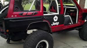 custom jeep seats jeep cherokee interior cage painted youtube