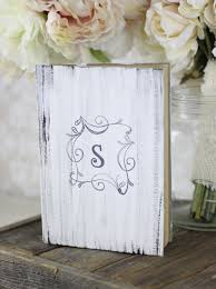chic rustic wedding decor photograph wedding guest book