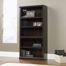 Sauder White Bookcase by Sauder Cinnamon Cherry 5 Shelf Bookcase 410174