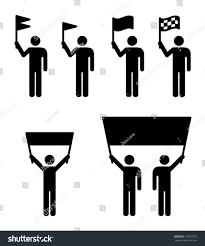 Flag People People Icons Flag Banner Concepts Stock Vector 115797973