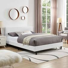 Side Bed Frame Modern Bed Frames Upholstered Bed White Metal Bed Frame