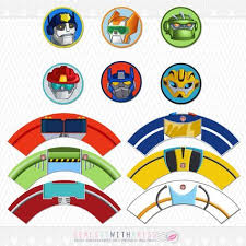 transformer cake toppers transformers rescue bots cupcake toppers and by sealsitwithakiss