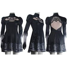 women nier automata 2b dress gloves cosplay yorha no 2