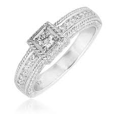 engagement ring design 0 22ct f i1 square design diamond ring withmicro setting