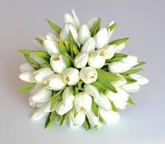 Fake Flowers For Wedding Wedding Bouquet Tulip Wedding Bouquet Bridal Real To Touch Silk