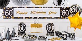 60th birthday decorations sparkling celebration 60th birthday party supplies party city