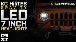 jeep kc lights jeep wrangler kc hilites gravity led 7 in headlights 2007 2017 jk