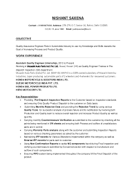 Automotive Resume Sample by Nishant Saxena Quality Engineer Resume