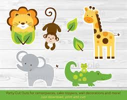 cut outs jungle safari animal cut outs centerpiece wall decor
