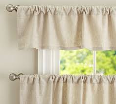 Kitchen Curtains Pottery Barn by Sheer Linen Cafe Curtains Curtain Blog