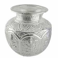 silver items silver pooja items silver kalash manufacturer exporter from mumbai