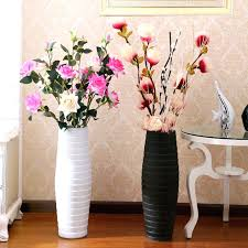Vases With Fake Flowers Appealing Floor Vase With Flowers Large Fashion Set Flower