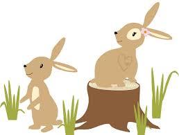 bunny clipart woodland