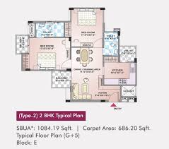 2bhk Plan Arg Rosewood Property In Ajmer Presented By Arg Group