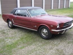1965 Mustang Black 1965 Ford Mustang Coupe Vintage Burgandy Black Vinyl Top Black