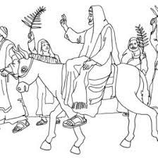 free coloring page palm sunday u2013 jesus enters jerusalem u2013 schola