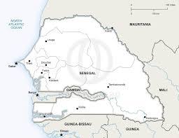 Senegal Map Vector Map Of Senegal Political One Stop Map
