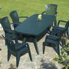 White Resin Outdoor Furniture by Green Plastic Resin Patio Furniture Set With 6 Chairs Furniture