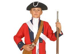 Red Coat Halloween Costume Boys American Revolutionary War Costume British Red Coat