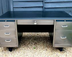 Vintage Metal Office Desk Vintage Desks Etsy