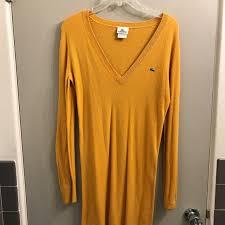 yellow sweater dress 78 lacoste dresses skirts lacoste mustard yellow sweater