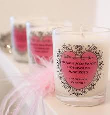 party favours hen party favour personalised candle by hearth heritage ltd