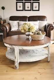 Cottage Style Sofa by White Beach Style Coffee Table Coffee Addicts