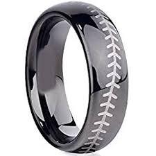 baseball wedding ring tungsten celtic engraved justtitanium