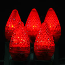Led C7 Light Bulbs by Red Led C7 Replacement Christmas Bulbs And Lamps