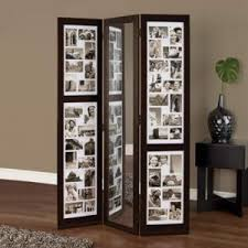 deluxe teak wood room divider partition comes with glass panel