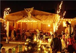 contemporary outdoor lighted nativity all home design ideas