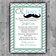 mustache baby shower invitation printable custom diy 10 00
