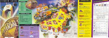 Studio City Map Theme Park Brochures Universal Studios Hollywood Theme Park