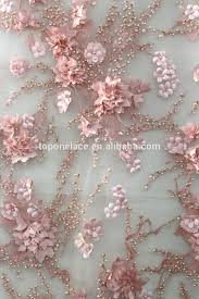 gorgeous pink 3d lace fabric embroidered bridal lace textile